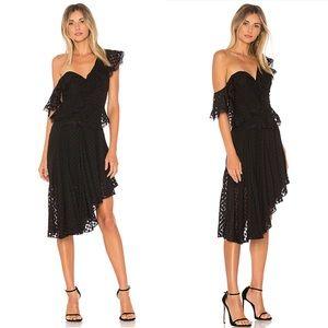 Bardot Senorita Dress One Shoulder Ruffle Chiffon